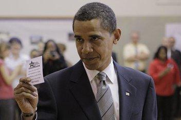 Obama glasanje