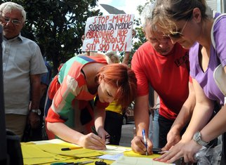 Peticija, Potpisivanje, MANS
