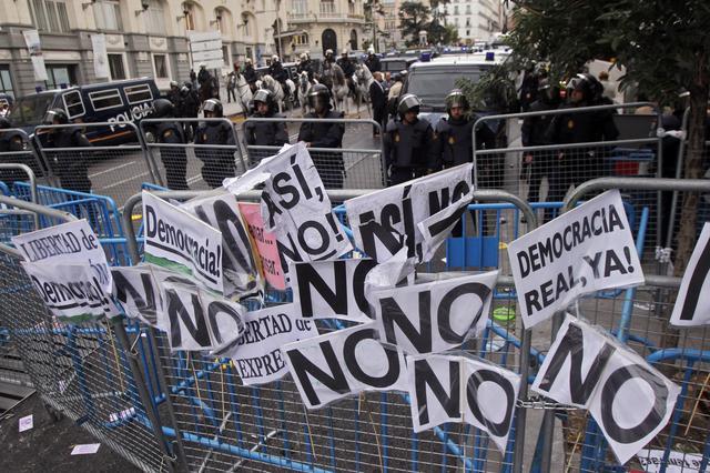 Madrid, protesti