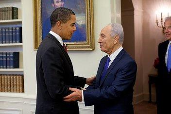 Šimon Peres i Obama