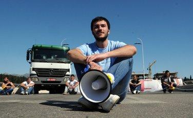 blokada mosta Mans i studenti