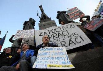 Češka, protest
