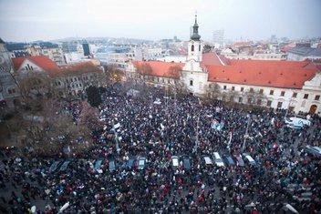 Gorila protest Bratislava