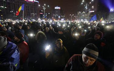 Sa protesta u Bukureštu