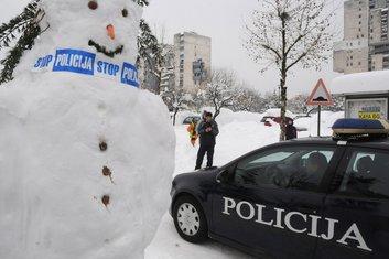 snijeg, snesko, policija