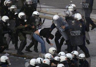 Grčka, Atina, protesti, oktobar 2011