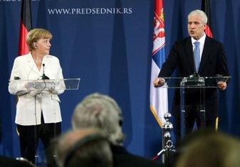 Angela Merkel, Beograd, Boris Tadić