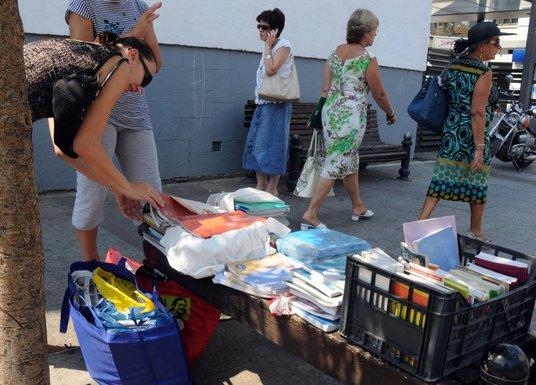 prodaja knjiga na ulici, Podgorica
