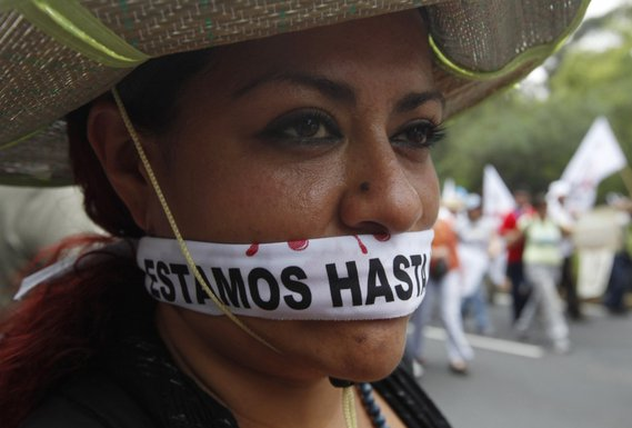 Meksiko protest