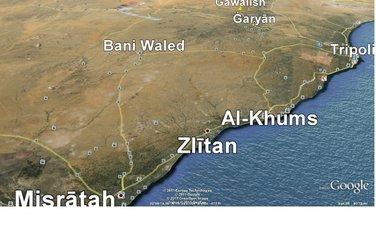 Libija, mapa Zlitana