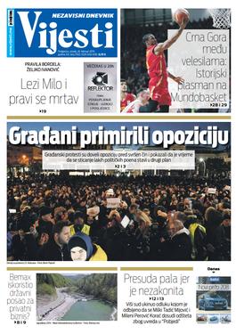 """Naslovna strana """"Vijesti za 26. februar"""