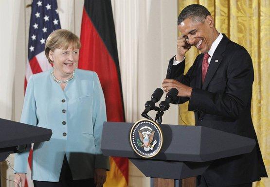 Obama i Merkel