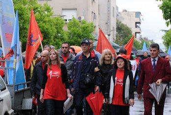 USSCG protest, 1. maj