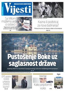 """Naslovna strana """"Vijesti"""" za 27. februar"""