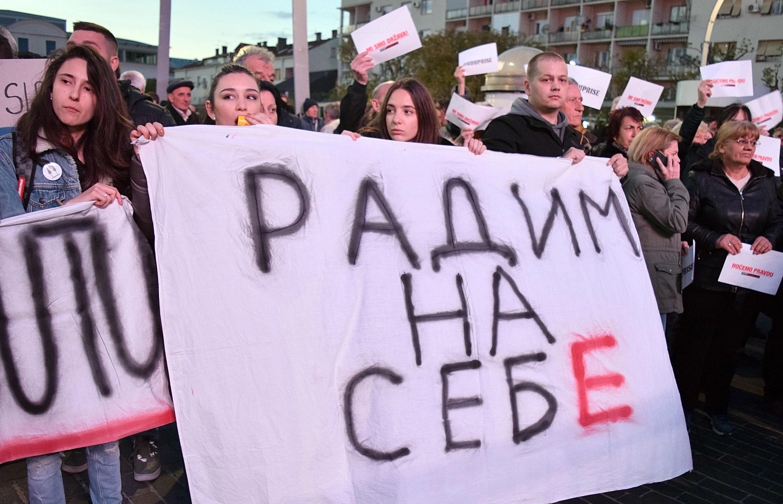 Sa protesta u Podgorici (foto: Zoran Đurić)