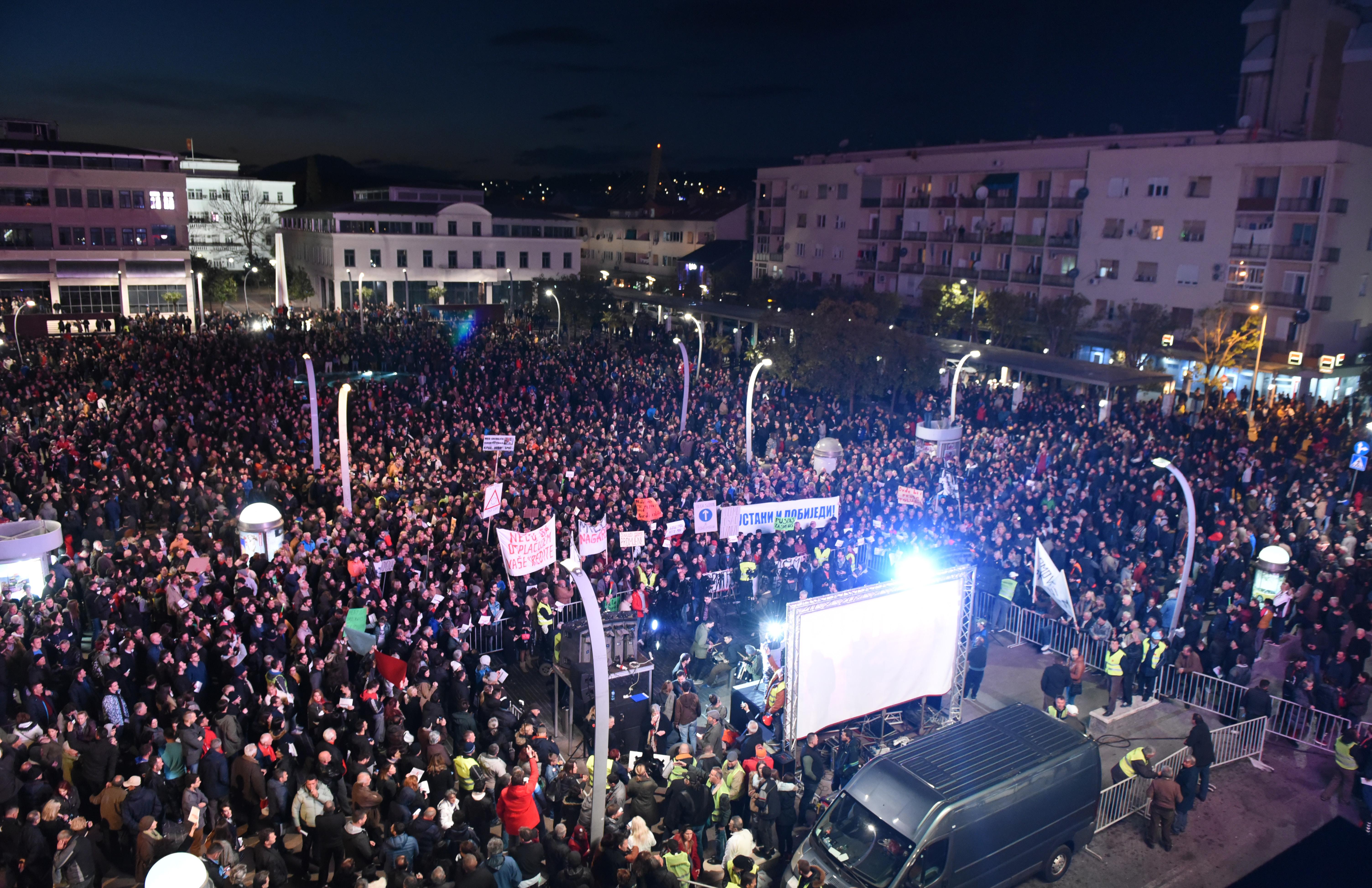 Sa protesta u Podgorici (foto: Savo Prelević)