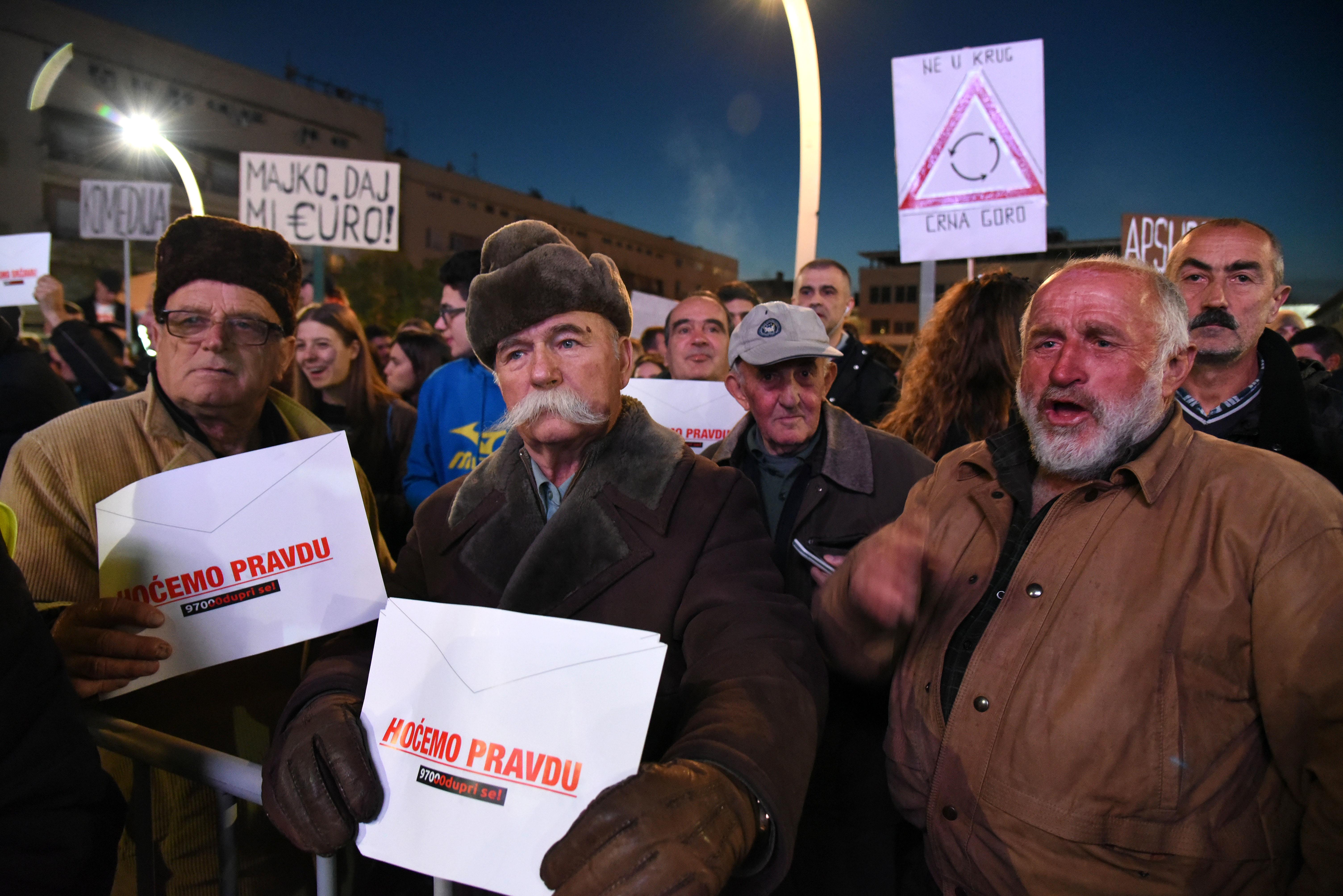 Sa protesta u Podgorici (foto: Boris Pejović)