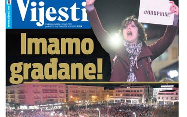 """Naslovna strana """"Vijesti"""" za 3. mart"""