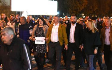 Predstavnici GP Nova ljevica na protestima
