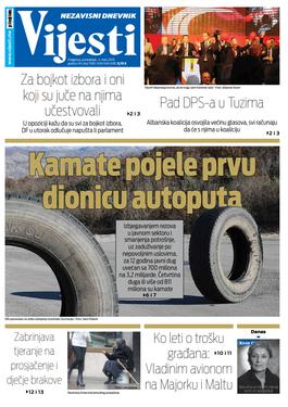 """Naslovna strana """"Vijesti"""" za 4. mart"""