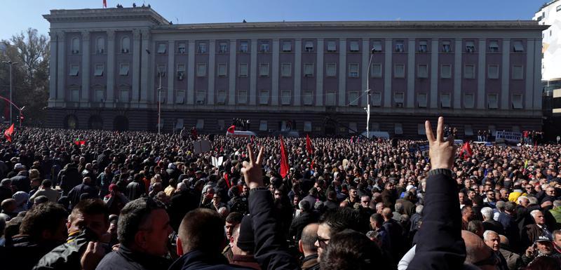 Sa nedavnog protesta u Tirani