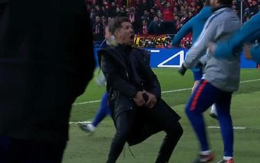 Dijego Simeone slavi gol protiv Juventusa