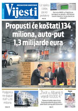 """Naslovna strana """"Vijesti"""" 11. mart"""
