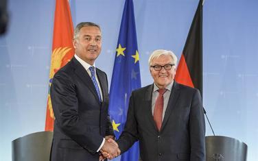 Sa susreta 2015. u Berlinu: Đukanović i Štajnmajer