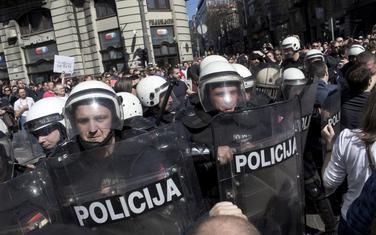 Sa protesta u Beogradu