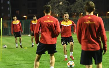 Sa treninga fudbalske reprezentacije Crne Gore