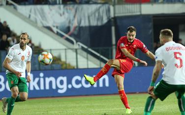 Stefan Mugoša postiže gol protiv Bugarske