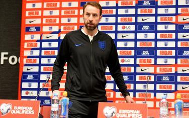 Garet Sautgejt na pres konferenciji u Kući fudbala FSCG