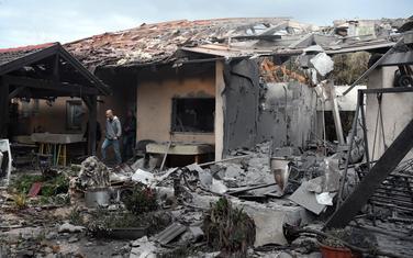 Kuća koju je pogodila raketa