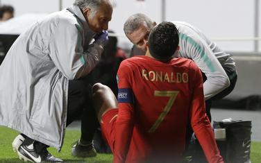 Povreda Ronalda na meču sa Srbijom