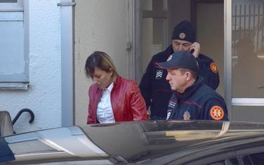 Sanja Božović nakon saslušanja (arhiva)