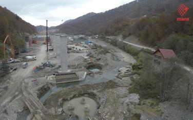 Fotografija sa gradilišta autoputa