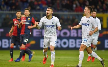 Mauro Ikardi slavi gol iz penala