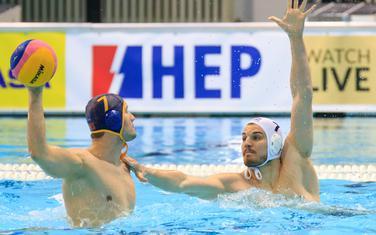 Mlađan Janović na meču sa Mađarskom