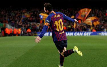 Leo Mesi slavi gol protiv Atletika