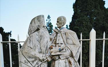 Biste carigradskog patrijarha Atenagora i pape Pavla VI.