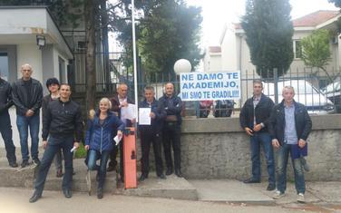 Sa protesta nastavnika Policijske akademije