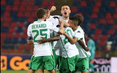 Igrači Sasuola proslavljaju jedan od golova ove sezone