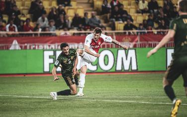 Stevan Jovetić na meču sa Remsom
