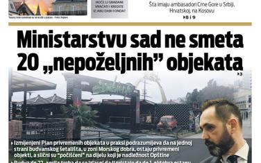 "Naslovna strana ""Vijesti"" za 16. april"