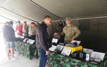 Sa izložbe dijela naoružanja i vojne opreme jedinica VCG