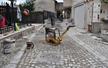 Renoviranje ulice u Staroj varoši pored kuće Rista Stijovića