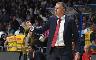 Milan Tomić na meču u Podgorici