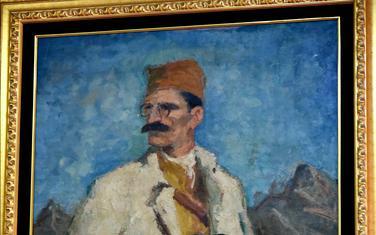 Portret Ivana Milutinovića u holu Skupštine