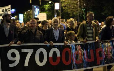 """Sa protesta pokreta """"Odupri se"""" održanog u subotu 20. aprila"""