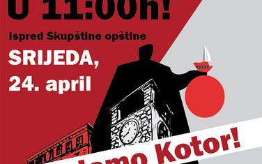 Poster kojim se najavljuje protest